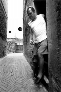 Father and child in Pienza (SI)